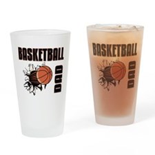 Basketball Dad Drinking Glass