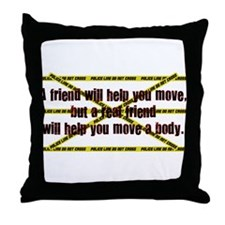 Move A Body Throw Pillow