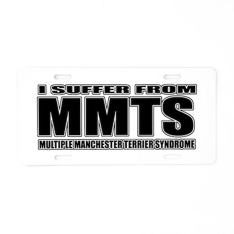 Manchester Terrier Aluminum License Plate