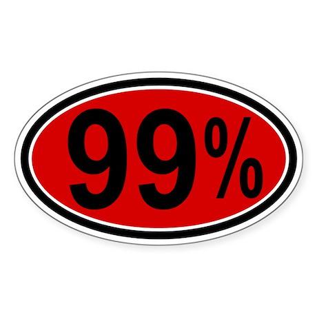 99% Sticker (Oval)