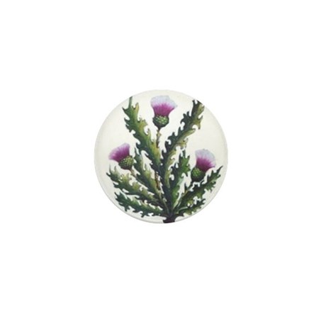 scottish thistle Mini Button (10 pack)