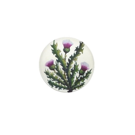 scottish thistle Mini Button