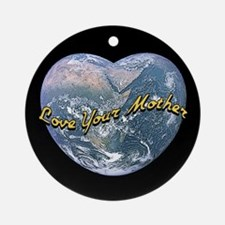 Love Mother Earth Night Ornament (Round)