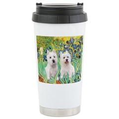 Irises-Westies 3and11 Travel Mug