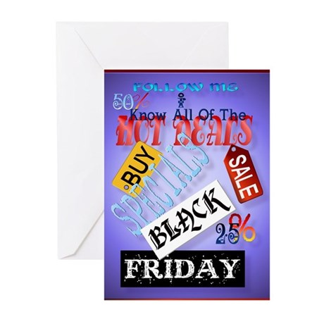 Follow Me-Black Friday Greeting Cards (Pk of 20)