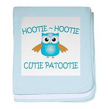 Hootie Hootie Cutie Patootie baby blanket