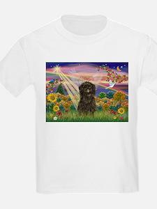 Autumn Angel & Affenpinscher T-Shirt