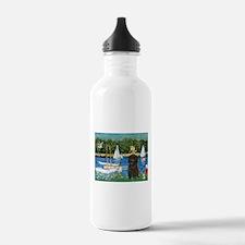 Sailboats & Affenpinscher Water Bottle