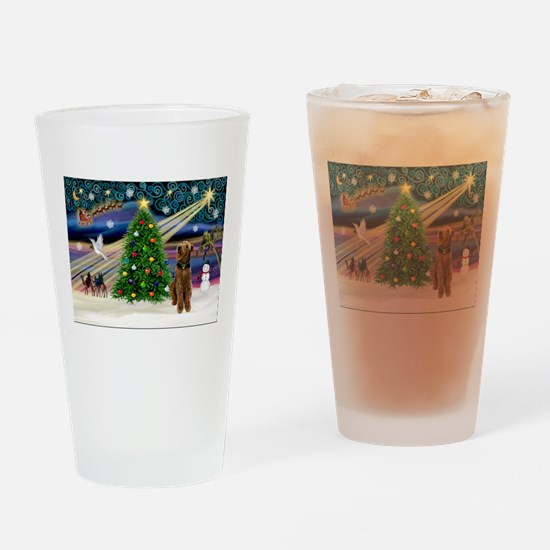Xmas Magic & Airedale (#1) Drinking Glass