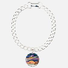 Xmas Star/2 Airedales Bracelet