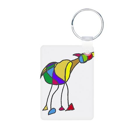 Horse Drawing Aluminum Photo Keychain