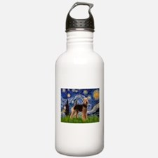 Starry Night Airedale (1) Water Bottle