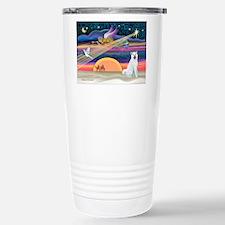 Xmas Star & Akita Travel Mug