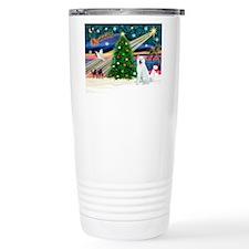 Xmas Magic & Akita Travel Coffee Mug