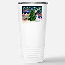 Xmas Magic & Akita Travel Mug