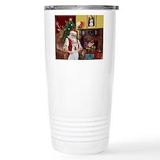 Santa & Akita Travel Mug