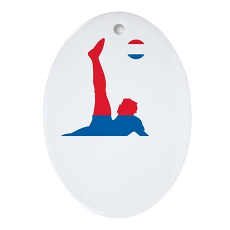 Serbia Soccer Ornament (Oval)