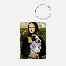 Mona Lisa/Cattle Dog Keychains