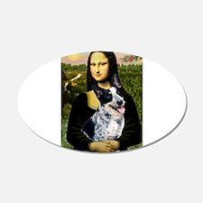 Mona Lisa/Cattle Dog 22x14 Oval Wall Peel
