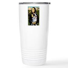 Mona Lisa/Cattle Dog Travel Mug
