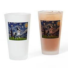 Starry Night/ Australian Catt Drinking Glass