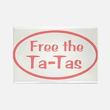 Free the Ta-Tas Rectangle Magnet