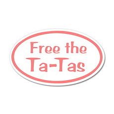 Free the Ta-Tas 22x14 Oval Wall Peel