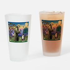St Francis & Aussie #2 Drinking Glass