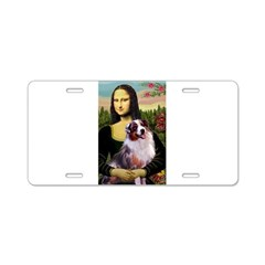 Mona Lisa / Australian Shephe Aluminum License Pla