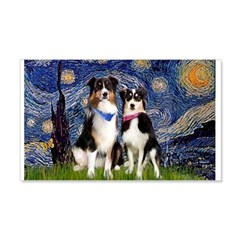 Starry Night - Two Aussies 22x14 Wall Peel