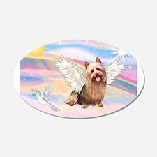 Aussie Terrier Angel 22x14 Oval Wall Peel
