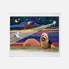 Xmas Star Aussie Terrier Throw Blanket