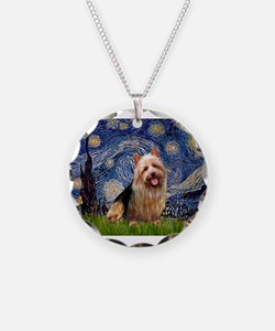 Starry Night Aussie Terrier Necklace