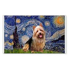 Starry Night Aussie Terrier Decal