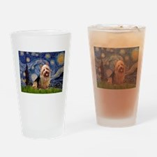 Starry Night Aussie Terrier Drinking Glass