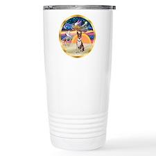 XmasStar/Basenji (brin) Travel Mug