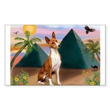 Basenji at the Pyramids Decal