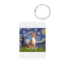 Starry Night & Basenji Keychains