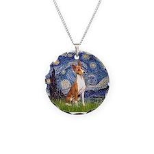 Starry Night & Basenji Necklace