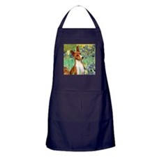 Basenji in Irises Apron (dark)