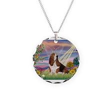 Cloud Angel & Basset Necklace
