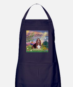 Cloud Angel & Basset Apron (dark)