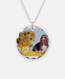 Sunflowers & Basset Necklace