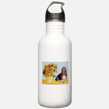 Sunflowers & Basset Water Bottle
