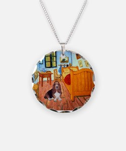 Room with a Basset Necklace