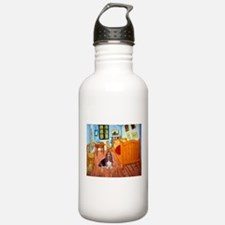 Room with a Basset Water Bottle