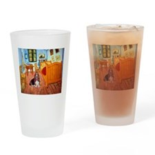 Room with a Basset Drinking Glass