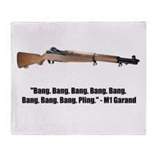 M1 Garand Throw Blanket