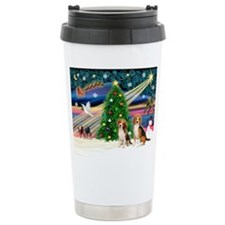 Xmas Magic & Beagle pair Travel Mug