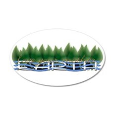 Love Your Mother Earth 22x14 Oval Wall Peel
